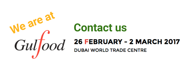 we are at Gulfood 2017 Dubai